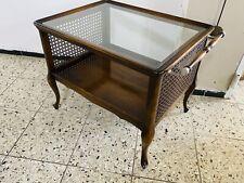 SERVIERWAGEN MIT FLORENTINER GEFLECHT GLAS BAROCK ORIGINAL  Vintage  Tisch