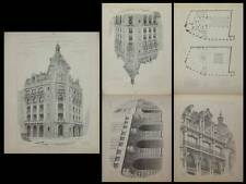 PARIS, 132 RUE REAUMUR - GRAVURES ARCHITECTURE 1905 - JACQUES HERMANT