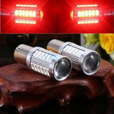2X Red BAY15D 1157 Car Truck Tail Stop Brake Light 5730 33 SMD LED Bulb 12V DC