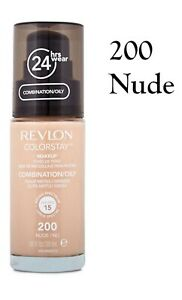REVLON COLORSTAY MATTE FOUNDATION *200 NUDE* 30ml COMBINATION/OILY SKIN