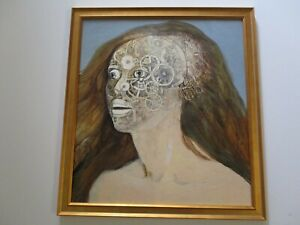 DIANA VITALE PAINTING DRAWING CALIFORNIA SURREALIST MODERNISM NUDE WOMAN SPACE