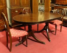 Englische Möbel Stilmöbel Regency Esstisch Esszimmer Mahagoni m Mittelplatte UK