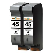 2 for HP45 Black for HP Deskjet 710 712 720 722 782 815 820 830 832 850 855
