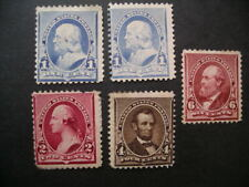 More details for united states 1890-93 1c (both shades), 2c, 4c, 6c  sg 224/9 mint.