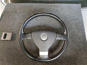 VW Touran Golf 5 EOS Passat 3C Leder Lenkrad 3 Speichen Multifunktionslenkrad