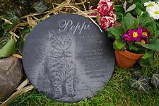 Tiergrab Grabstein rund -30cm- mit Wunschfoto und-Text für Hund Katze