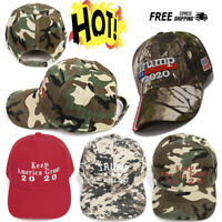 Trump 2020 Hat No Bullshit Keep America Great US Flag Camo Embroidered Cap aa