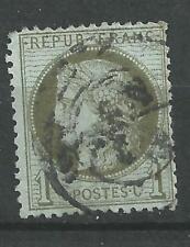 Cérès  émission de 1871  N° 50 vert- olive  dentelé oblitéré