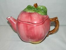 Vintage Red Apple Tea Pot