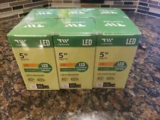 TW Lighting A19 5W LED Light Bulb 500 Lumens Dimmable 2700k Pack of 6 Bulbs New