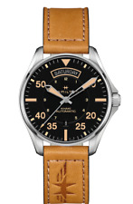 Hamilton Khaki Aviation Pilot Auto Black Dial Leather Band Men's Watch H64645531
