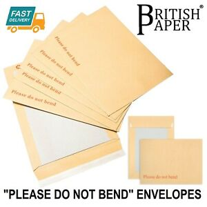 Please Do Not Bend Hard Card Board Backed Envelopes Brown Manilla C6 C5 A5 A4 A3