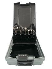 6 tlg. Kegelsenker Satz HSS-CO Senkbohrer Cobalt 6,3 - 20,5 mm in Rose Kassette