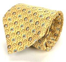 """ERMENEGILDO ZEGNA Tie Silk Elegant Floral Necktie 100% Silk Made Italy 3.5 x 60"""""""