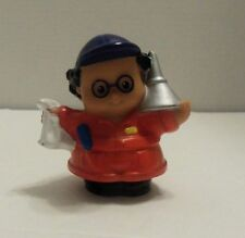 Fisher Price Little People Man Mechanic Red Coveralls Funnel Rag 2006 Blue Hat