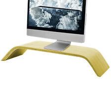 Echtholz Monitor Notebook Ständer Display Halterung Ablage Erhöhung Desktop Holz