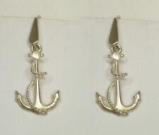 Orecchini pendenti con ANCORA e corda in Argento 925 - pendente con amo - marina
