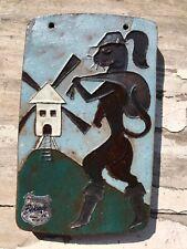 Tubelined Ceramic Art Tile Mid TIEBERGHIEN Amphora Perignem Belgium CAT IN BOOTS
