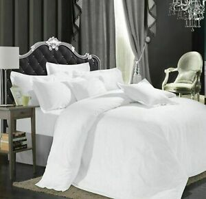 1200 Thread Count Duvet Bedding Items Egyptian Cotton White Solid & All Sizes
