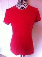 Adidas Red T-shirt Short Sleeves Top Ladies Size S(10) New