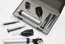 NEW FIBER Otoscope Ophthalmoscope Examination LED Diagnostic ENT SET Kit +2 BULB