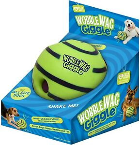 Wobble Wag Giggle Ball, Interactive Dog Toy, Fun Giggle Sounds When Rolled