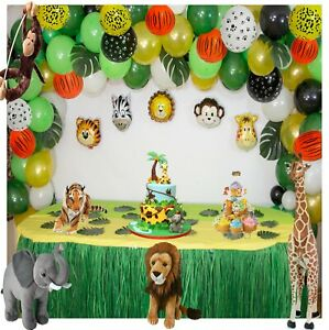 146 pcs Jungle Safari Themed Birthday, baby shower Party BalloonsTie Tool Set ✨