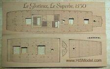 Heller Le Glorieux Le Superbe 1:150 - laset cut wooden deck for model