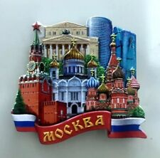Russian Cathedral 3D Resin Fridge Magnet Refrigerator Sticker Decor Souvenir