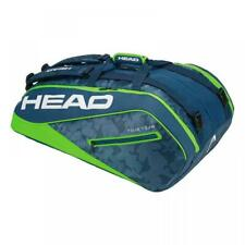 Head Tour Team 12 Monstercombi Tennis Racket Bag - Blue/Green Rrp £80