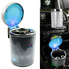 Portable Car Travel Cylinder Ashtray Holder Cup - Colorful Led Light