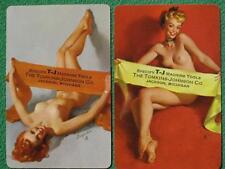 """Elvgren Pinup Girl Swap Cards 1953 """"Gentlemen Prefer Blondes?"""" Jackson, Michigan"""