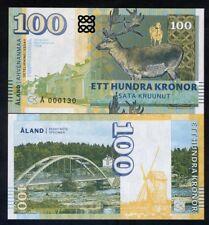 Aland Islands, 100 Kronor, 2018, Private Issue, Specimen, Essay UNC