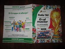 ALBUM DI FIGURINE EUROFLASH ITALIA '90 GOAL MASTER VUOTO CON BUSTINA ALLEGATA