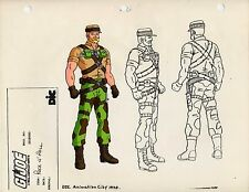 G.I. GI Joe Rock N' Roll Model Cel Art 80-90's Cartoon 1990 Dic Animation City