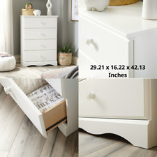Bedroom Dresser Soft White Child Chest Wooden 4 Drawers Modern Storage Furniture
