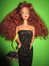 B615-rousse Barbie Midge Mattel 1985 Lurex-Tuyau Robe + tissu sac + chaussures