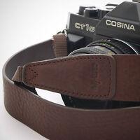 marrón oscuro piel cam-in Cámara DSLR Correa cam2245 STOCK DE RU