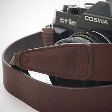 En cuir marron foncé CAM-in DSLR Caméra Sangle CAM2245 UK Stock