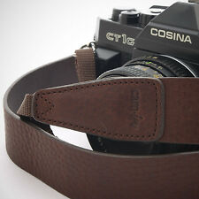 marrone scuro pelle cam-in DSLR Camera Cinghia cam2245 STOCK UK