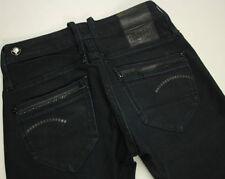 EUC - RRP $369 - Womens G-Star Raw Stretch 'MIDGE STRAIGHT WMN' Black Jeans