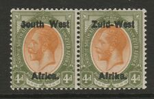 South West Africa 1923 4d Orange-yellow & sage-green SG 5 Mint.
