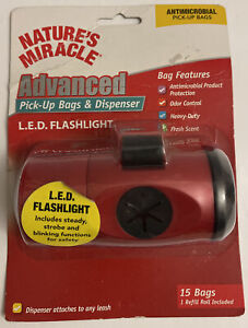 Natures Miracle Advanced Pick Up Bags And Dispenser W/ Led Flashlight.