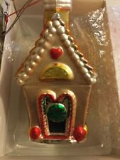"""NEW Department 56 Mercury Glass Hand Blown Candy House Christmas Ornament -7""""T"""