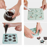 Silicone Lollipop Chocolate Mold Candy Making Mold Chocolate Mould Star Heart