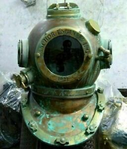 Brass Morse Diving Scuba SCA Divers US Navy Mark V Divers Helmet Vintage Gift