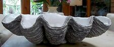 Giant Clam Shell Stone Sculpture Ornament Grey Marble Garden Home Wedding Gift