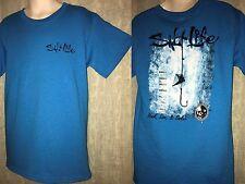 New Salt Life Hook Line & Sinker w/Skull Teal Tagless Tee Shirt Youth Size Small