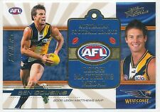 2006 Select Supreme Ben Cousins Leigh Matthews Medal card West Coast Eagles MC5