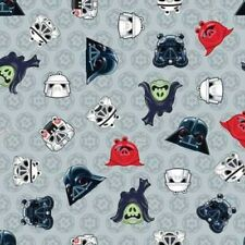 Camelot Cottons Angry Birds Star Wars 73300106 2 Grey Heads Cotton Fabric